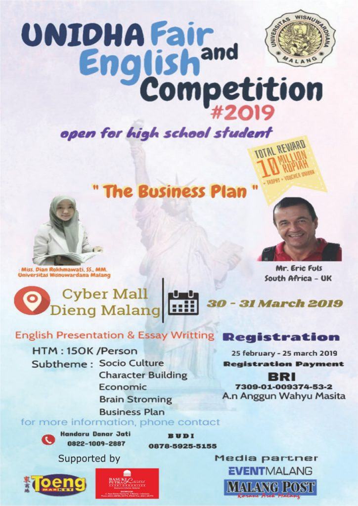 UNIDHA FAIR AND ENGLISH COMPETITION 2019