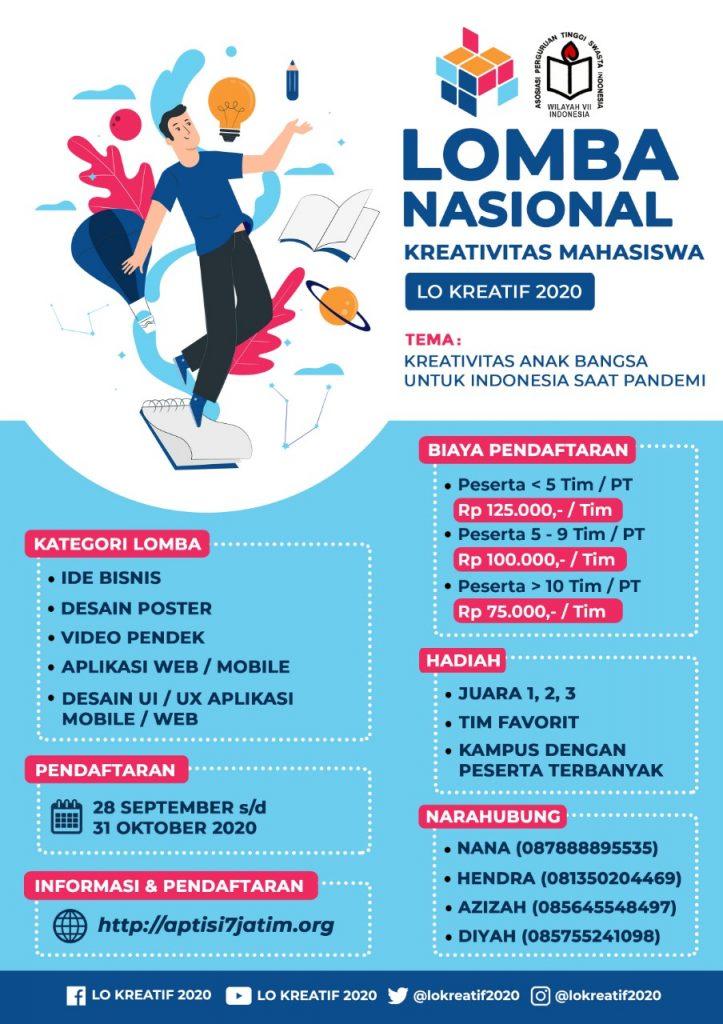 LOMBA NASIONAL KREATIVITAS MAHASISWA 2020